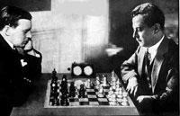 Foto del match Capablanca vs. Alekhine de 1939, en Buenos Aires