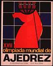 Cartel de la Olimpiada Mundial de ajedrez de La Habana en 1966