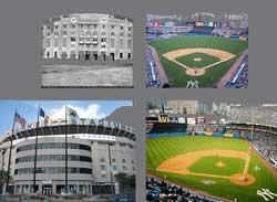 El Yankee Stadium, en diversos momentos de su historia
