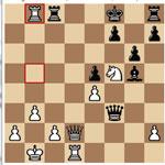 Posición final de la partida Leinier-Morozevich