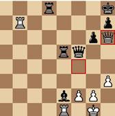Posición final de la partida Carlsen-Leinier