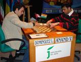 Leinier lució bien en su primer duelo contra Anand