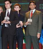 Leinier, junto a Anand, en la inauguración del Linares