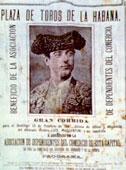 Uno de los carteles que anunciaban las corridas de toros en La Habana