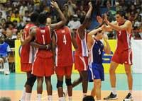 Los cubanos celebran ¿repetirán esta escena en Belgrado?