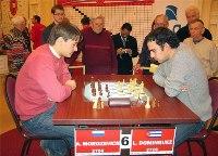 Esta vez Leinier Domínguez cedió en sus dos partidas ante Morozevich