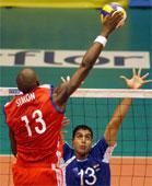 Roberlandy Simón, líder del equipo cubano de voleibol
