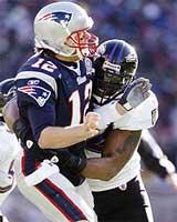 Brady lució muy mal ante la defensiva de los Ravens