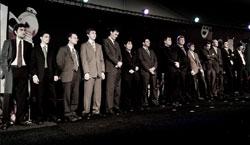 Foto de los participantes en el Corus 2010. Leinier es el primero a la izquierda