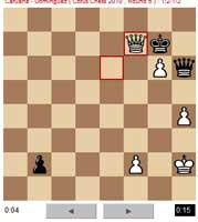 Posición final de la partida, Leinier con negras