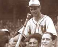 Daniel el Chino Canónico celebra el título mundial en 1941