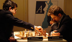 Aronian y Kramnik, dos de los favoritos en el Amber 2010