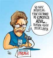 El caricaturista Méndez refleja, a su modo, la parcialidad periodística