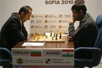 Mucha combatividad en las dos primeras partidas entre   Anand y Topalov
