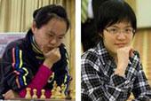 Hou Yifan (a la derecha) sería campeona mundial con 16 años