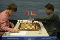 Se esperaba mucho más de esta partida Carlsen-Aronian