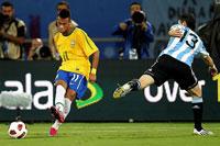 Neymar lideró a los brasileños en el Sudamericano