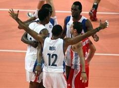 Los cubanos celebran su tercer triunfo en la Liga Mundial de voleibol